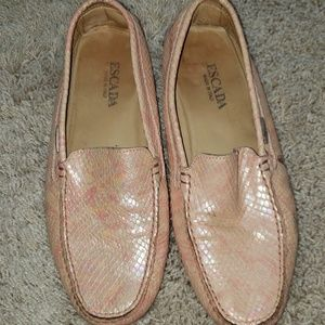 ESCADA Peach Iridescent Slip on Loafer. 8.5B